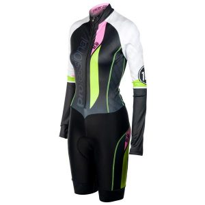PROF WOMEN'S AEROSUIT LS WITH RACE PROVEN SHORTS LYCRA
